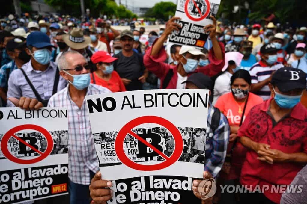 В Сальвадоре начались протесты против легализации биткоина