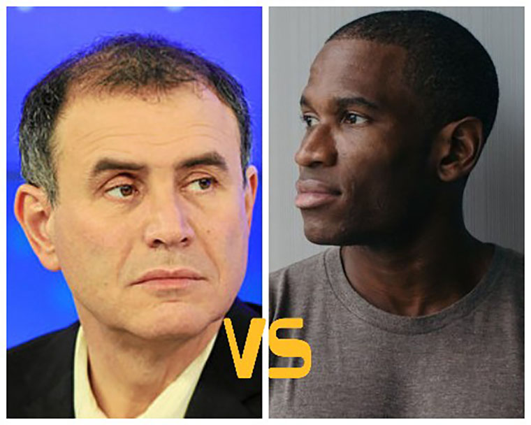 Arthur Hayes and Noril Roubini hold oral strikes in the Blockchain