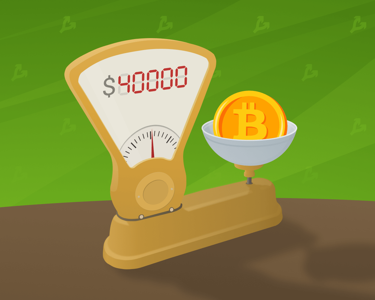 Цена биткоина поднялась выше отметки $40 000