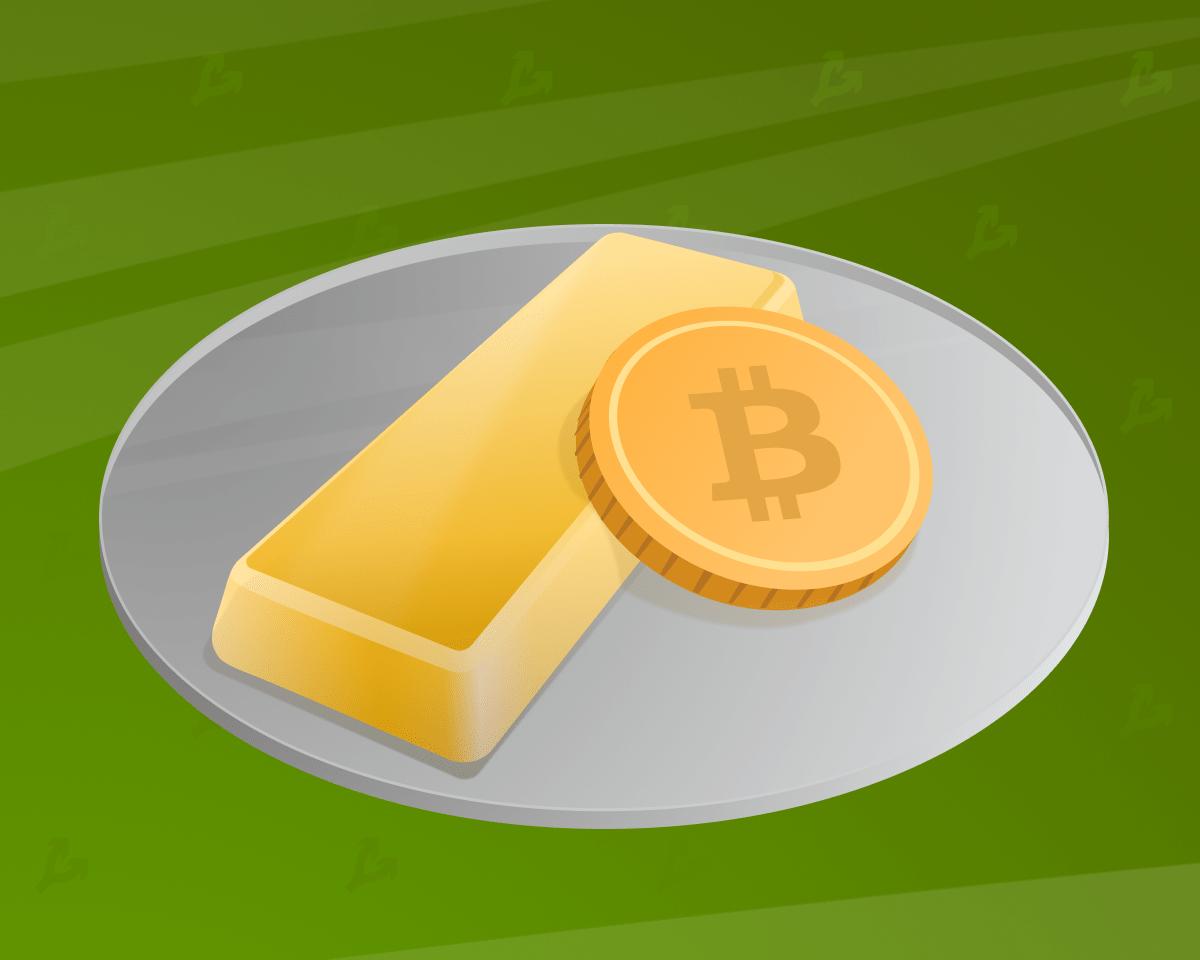 Мнение: волатильность биткоина повышает привлекательность инвестиций в золото