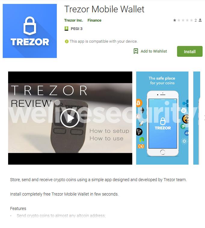 ВGoogle Play найдено приложение для кражи криптовалют