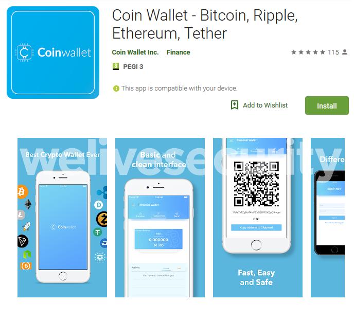 Более тысячи пользователей скачали из Google Play фейковый кошелек, похищающий криптовалюту