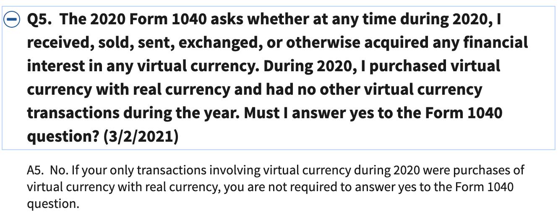 Налоговая США объяснила, в каких случаях не нужно сообщать о биткоине в декларации
