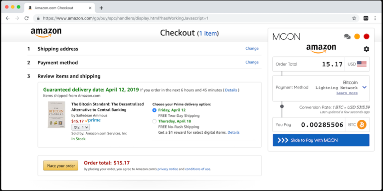 Стартап Moon открыл возможность покупать товары на Amazon за биткоины