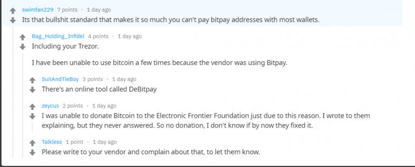 Разработчики биткоина предложили отказаться от BIP70. Это угрожает процессингу BitPay