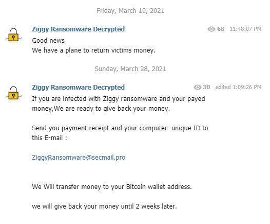 Оператор биткоин-вымогателя Ziggy вернет деньги своим жертвам