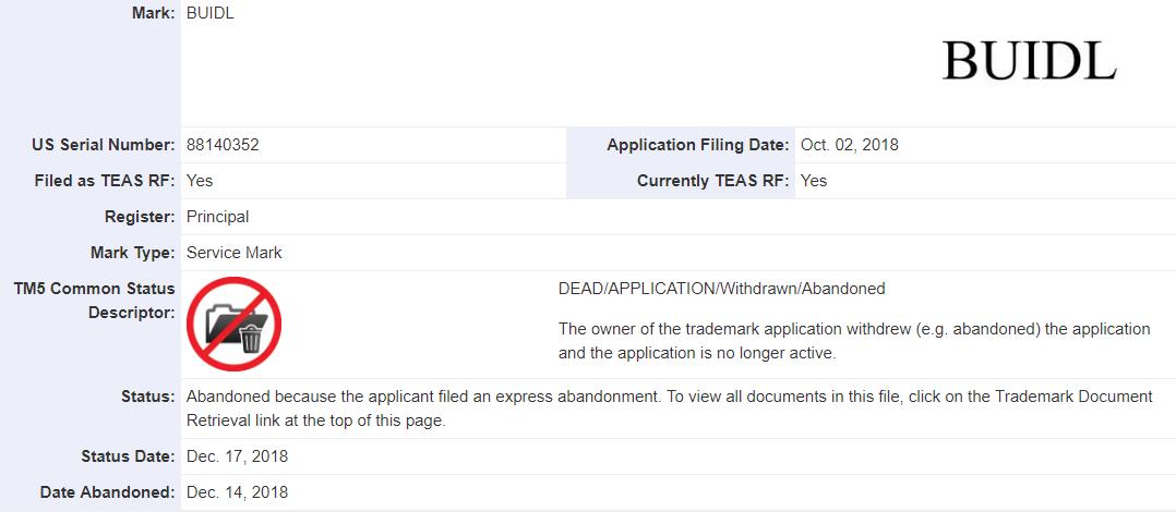 Компания Coinbase отказалась от попыток запатентовать термин «BUIDL»