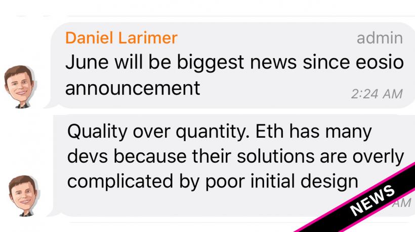 Создатель EOS рассказал, когда ожидать важнейших новостей о развитии проекта