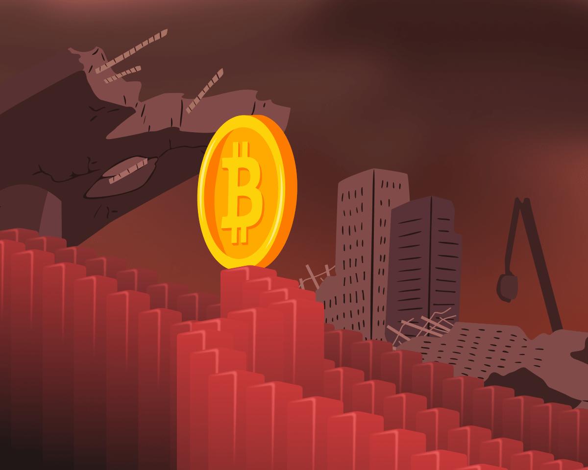Обвал хешрейта, перегретый рынок и каскад ликвидаций: что провоцирует снижение цены биткоина