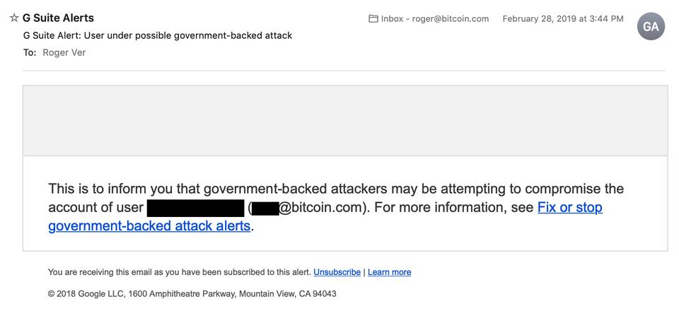 Роджер Вер заявил о спонсируемой правительством кибератаке на его новостной ресурс