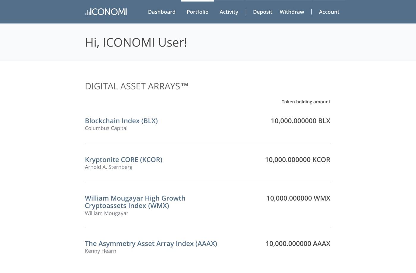 Платформа ICONOMI представила 12 новых управляющих активами