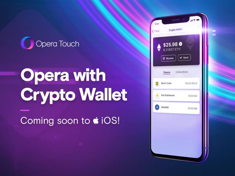 Opera встроит Ethereum-кошелек в браузер для iOS