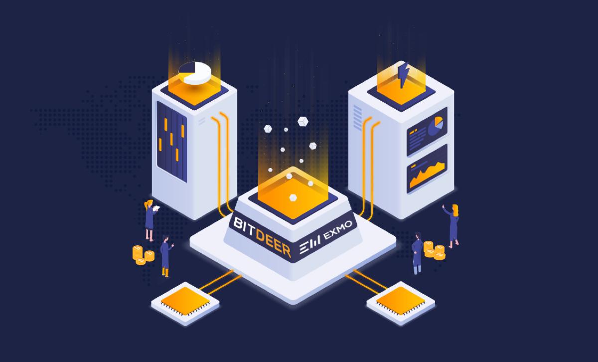 Платформа для IP-шеринга BitDeer объявила о партнерстве с криптобиржей EXMO
