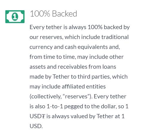 Tether незаметно обновил политику обеспечения токенов USDT, включив «эквиваленты наличных денег»