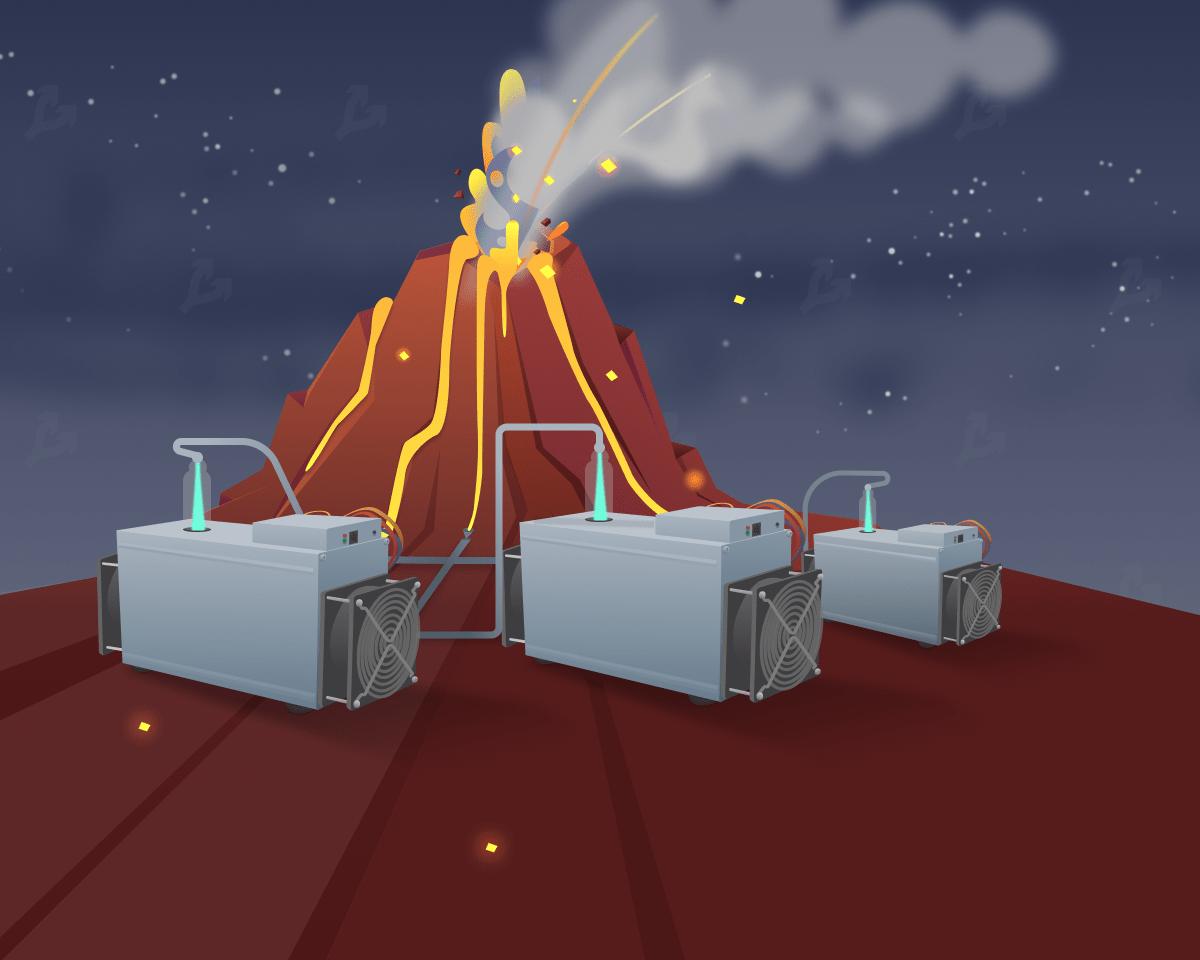 В Сальвадоре показали подготовку к майнингу биткоина на энергии вулкана
