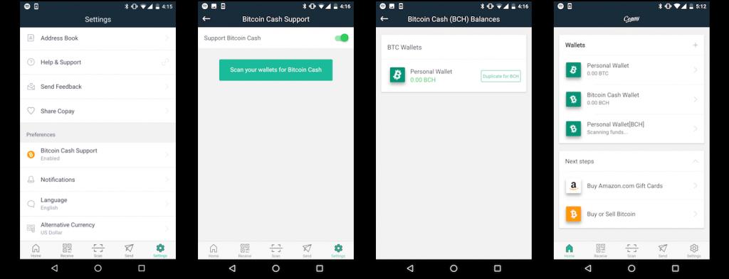В новый бета-релиз Copay добавлена поддержка Bitcoin Cash